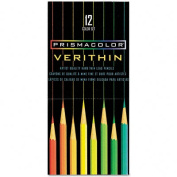 Verithin Colored Art Woodcase Pencils, 24 Assorted Colors/Set