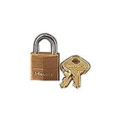 Master Lock 120T Three-Pin Brass Tumbler Locks 3/4 Wide Two Locks and Two Keys per Pack