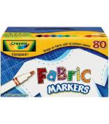 . 588215 Fabric Marker Classpack, Ten Assorted Colors, 80/Set