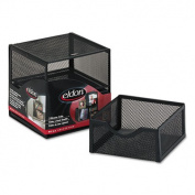Organization Two-Drawer Cube, Wire Mesh, Storage, 6 x 6 x 6, Black