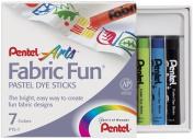 Pentel Fabric Fun Pastel Dye Sticks 7 Colours