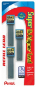 Super Hi-Polymer Lead Refills, 0.7mm, HB, Black, 90 Leads/Pack