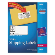 Avery Consumer Products AVE5163 Laser Labels- Mailing- Permanent- 2in.x4in.- White
