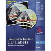 Inkjet Full-Face CD Labels, Matte White, 40/Pack