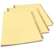 Avery Preprinted Laminated Tab Dividers with Gold Reinforced Binding Edge Printed Daily/31-Tab/42035