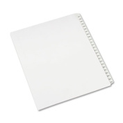 Allstate-Style Legal Side Tab Dividers, 25-Tab, 201-225, Letter, White, 25/Set