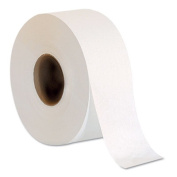 "Jumbo Jr. One-Ply Bath Tissue Roll, 9"" dia, 2000ft, 8 Rolls/Carton"
