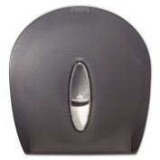 Jumbo Jr. Bathroom Tissue Dispenser, 10.61 x 5.39 x 11.29, Translucent Smoke