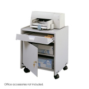 Safco 1854GR Mobile Machine Floor Stand in Gray