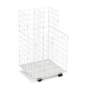 Safco 3084 White Wire Roll File- 4 Compartment