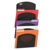 Steel Wall Rack, Letter/Legal, Seven Pocket, Black, 91/2 x 2 x 21 3/4