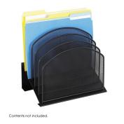 Safco 3257BL Onyx Mesh Desk Organizer - 5 Slanted Sections - Black