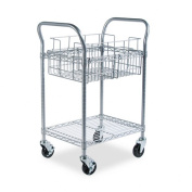 Safco 5235GR Gray Wire Mail Cart- 24''W