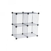 Wire Cube Shelving System, 14w x 14d x 14h, Black