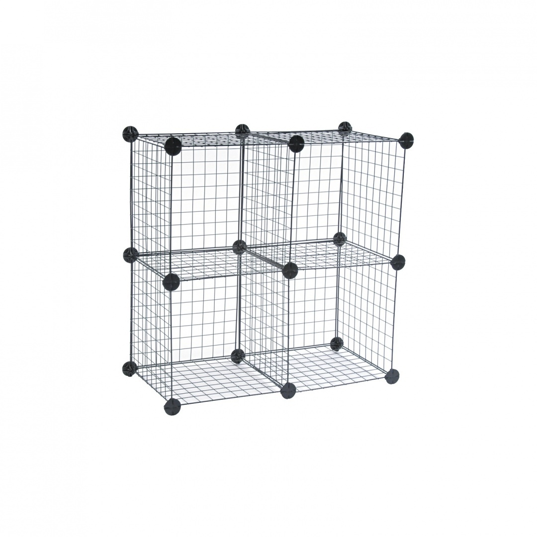 Wire Cube Shelving System, 14w x 14d x 14h, Black by Safco® Wire ...