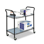 Safco 5337BL Black Wire Utility Cart