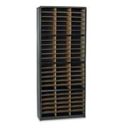 Safco 7131BL Value Sorter 72 Compartment - Literature Organizer - Black