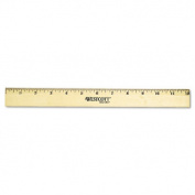 "Wood Ruler with Single Metal Edge, 12"""