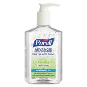Green Certified Instant Hand Sanitizer Gel, 8oz Pump Bottle, Clear