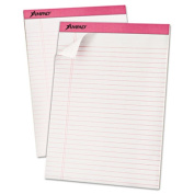 Breast Cancer Awareness Pads, Lgl/Wide Rule, Ltr, Pink, 6 50-Sheet Pads/Pack
