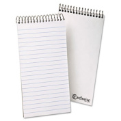 Envirotec Reporter Spiral Notebook, Gregg Rule, 4 x 8, White, 70 Sheets