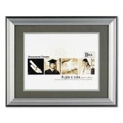 Dax N15783ST Photo Frame Easel Back Desk/Wall Wood 11 x 14 Charcoal/Nickel-Tone
