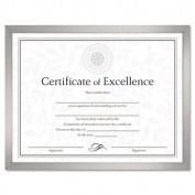 Value U-Channel Document Frame w/Certificates, 8-1/2 x 11, Silver