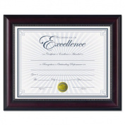 "Prestige Document Frame, Rosewood/Black, Gold Accents, Certificate, 8 1/2 x 11"""