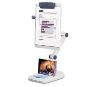 Weighted Flex Arm Desktop Copyholder, High-Impact Plastic, Platinum/Graphite