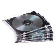 Thin Jewel Case, Clear/Black, 50/Pack