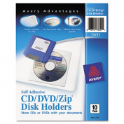 Self-Adhesive Media Pockets, 10/Pack