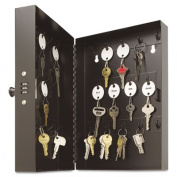 STEELMASTER Key Controls 28 Key Hook Cabinet Safe with Combo Lock Black 201202804