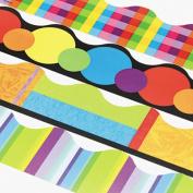 TREND Terrific Trimmers Border, 5.1cm - 0.6cm x 12m, 48pc, Colour Collage Designs