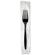 Individually Wrapped Knives, Plastic, Black, 1000/Carton