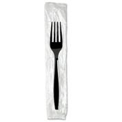 Individually Wrapped Knives, Plastic, Black, 1000/Carton