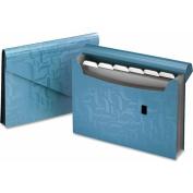 Essentials Expanding File, Seven Pockets, Poly, 13 1/2 x 9, Blue
