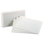 Ruled Index Cards, 5 x 8, White, 100/Pack