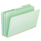 Pressboard Expanding File Folders, 1/3 Cut Top Tab, Legal, Green, 25/Box