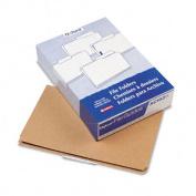 Kraft Angled Tab File Folders, 1/3 Cut Top Tab, Legal, Brown, 50/Box