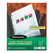 Wilson Jones 21403 Super Heavy Weight Sheet Protector Non-Glare Finish Clear 25/Box