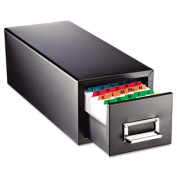 Drawer Card Cabinet Holds 1,500 5 x 8 cards, 9 7/8 x 18 1/8 x 9