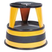 Kik-Step 2-Step Steel Step Stool, 16 dia. x 14 1/4h, to 350lb, Orange