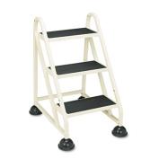 Cramer 1030-19 Stop-Step Three-Step Aluminum Ladder- 21-3/8w x 27-1/4d x 31-3/4- Beige