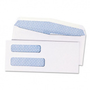 Quality Park Products QUA24532B Envelopes- Double Window- No 8-.63- 3-.63in.x8-.63in.1000-CT- White