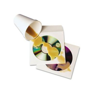 Tech-No-Tear CD/DVD Sleeves, 100/Box