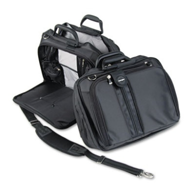 "Contour 15"" Laptop Carrying Case, Nylon, 16-1/2 x 6-1/2 x 12-1/2, Black"