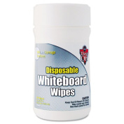 Falcon DWBT Disposable White Board Wipes 6 x 6.5 White 80 per Canister
