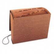 Jan-Dec Accordion Expanding File, 12 Pocket, Letter, Leather-Like Redrope