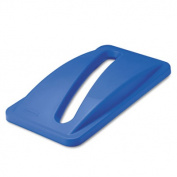 Slim Jim Paper Recycling Top, 20 3/8 x 11 3/8 x 2 3/4, Dark Blue