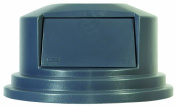 """Round Brute Dome Top Lid for 55gal Waste Containers, 27 1/4"""" dia, Gray"""
